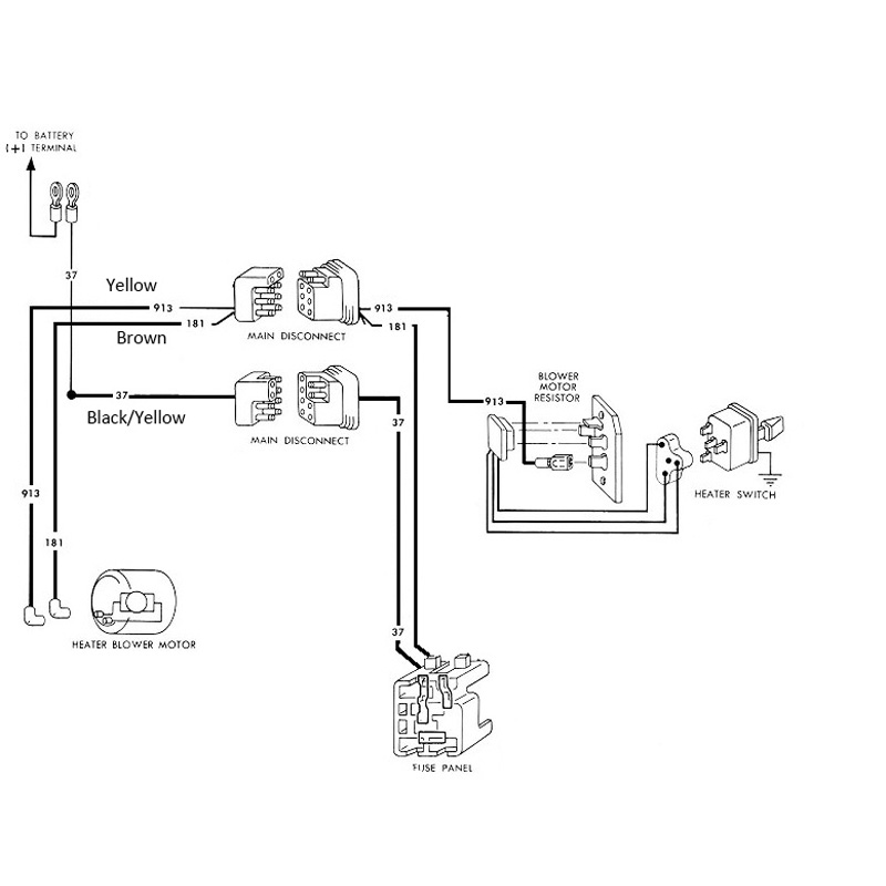 1965 mustang heater switch wiring diagram  center wiring