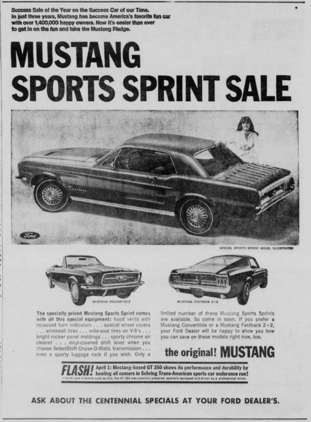 Mustang Sports Sprint Ad