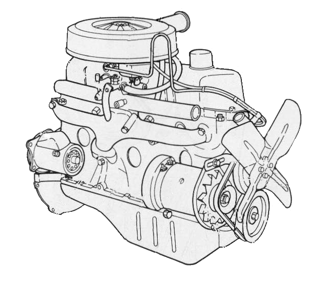 1979 Mustang Engine Information & Specs - 200 Ford Straight 6 (3.3 L) | Ford Inline 6 Cylinder Engine Diagram |  | Mustang Specs