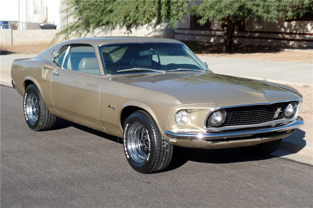 Gold Mustang