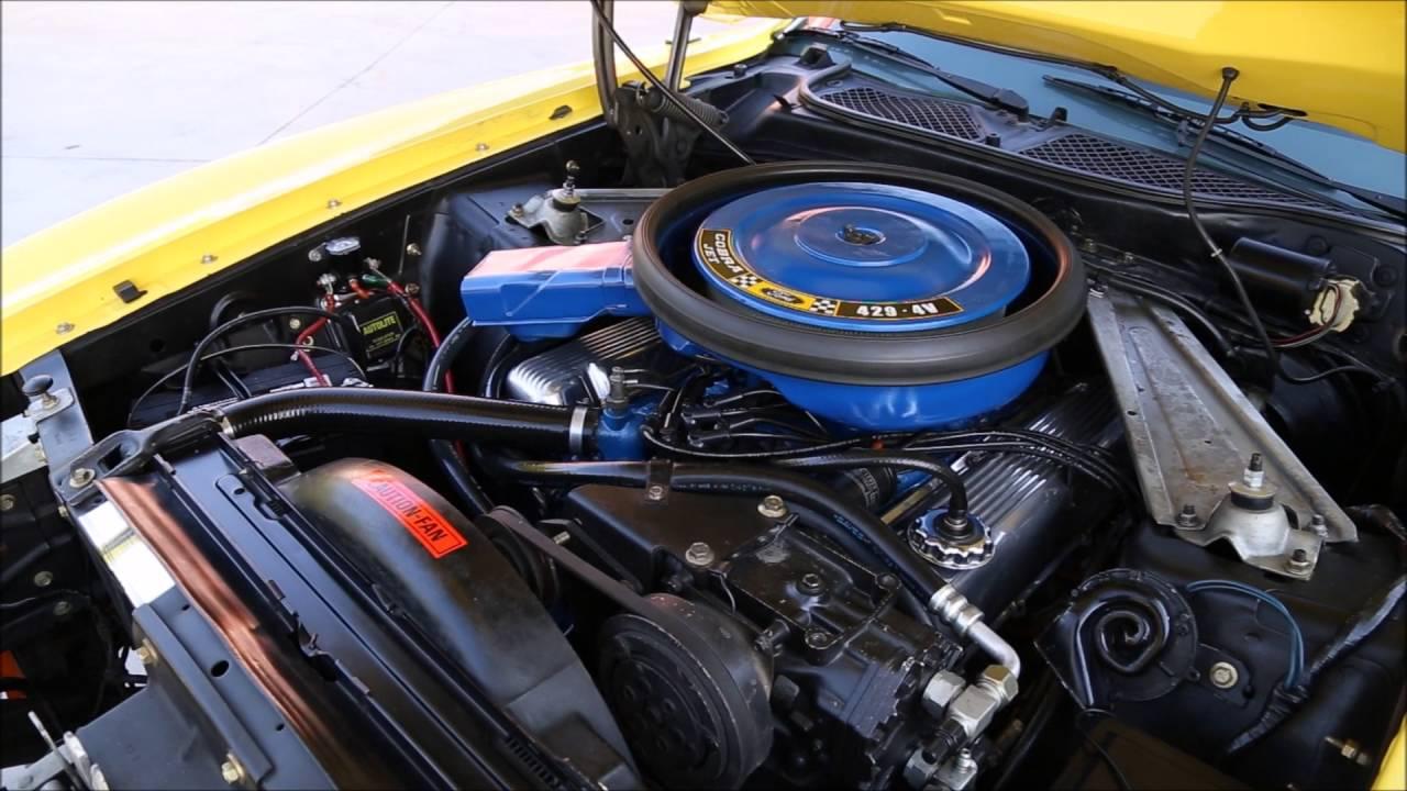 1971 Mustang Super Cobra Jet V8 engine