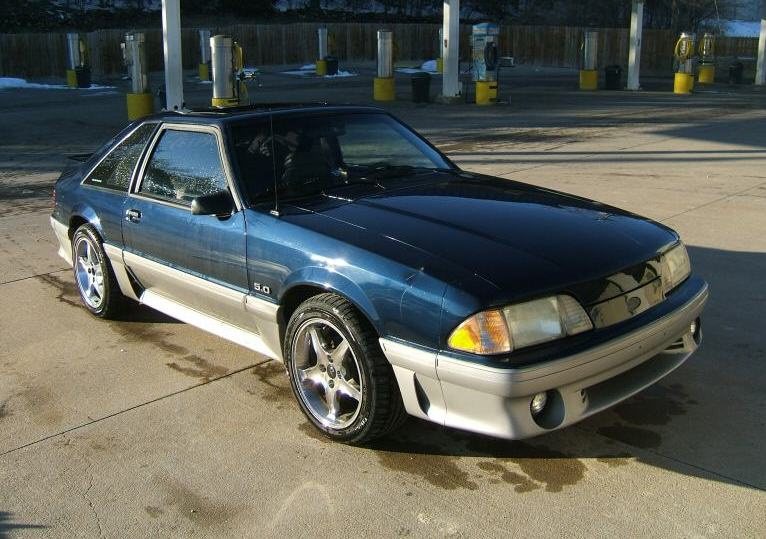 Twilight Blue 1991 Ford Mustang