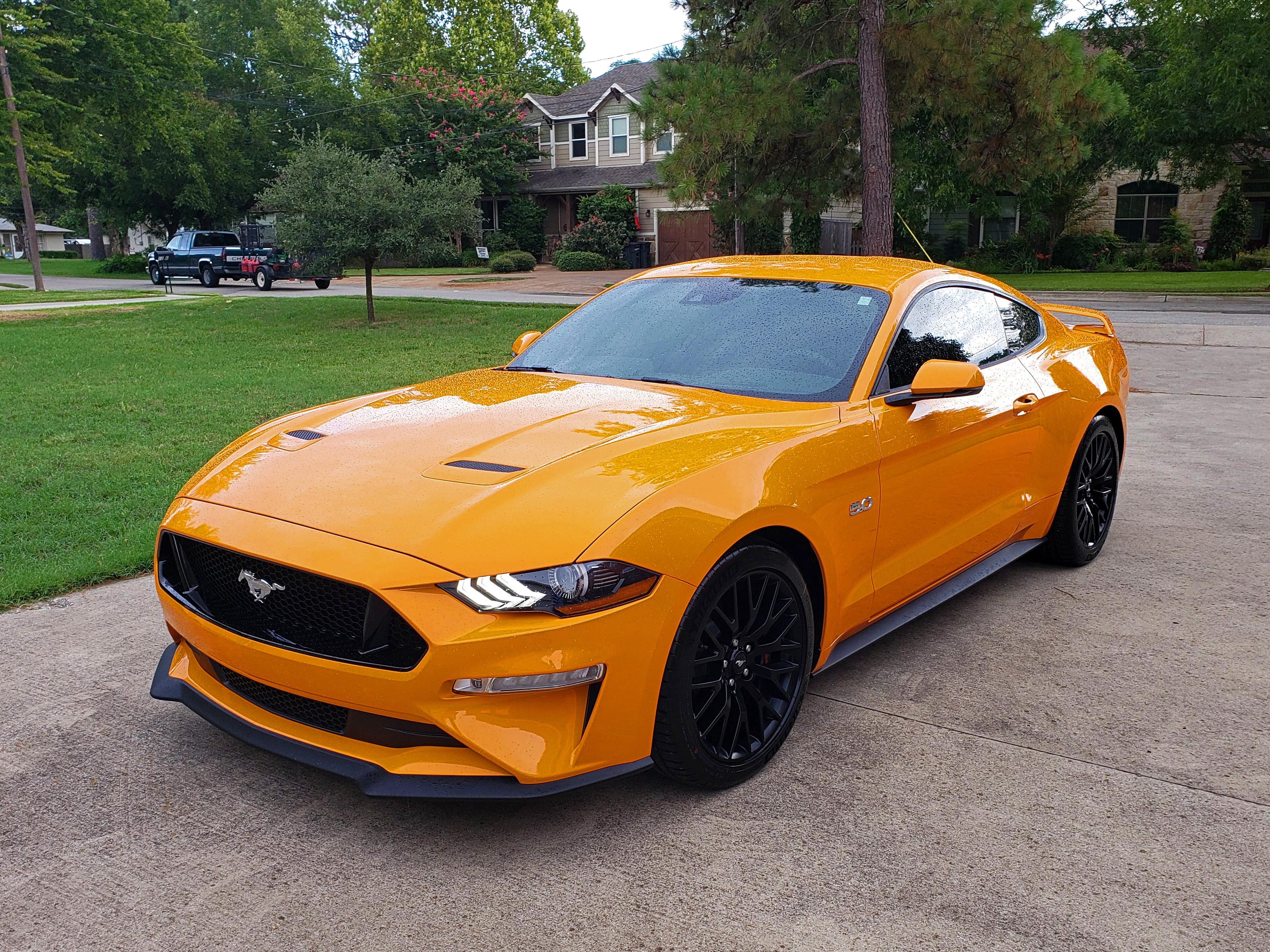 Orange Fury 2019 Ford Mustang