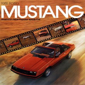 free 1981 ford mustang sales brochures