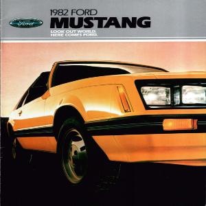 free 1982 ford mustang sales brochures