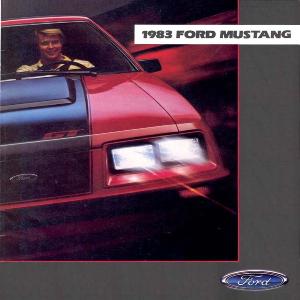 free 1983 ford mustang sales brochures