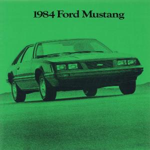free 1984 ford mustang sales brochures