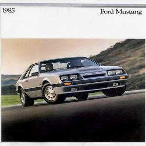 free 1985 ford mustang sales brochures