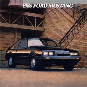 free 1986 ford mustang sales brochures