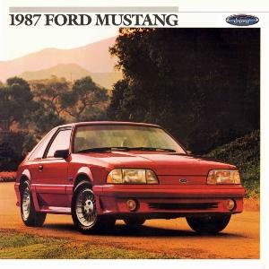 free 1987 ford mustang sales brochures