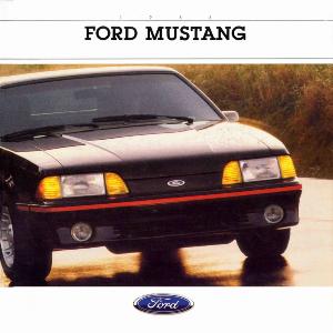free 1988 ford mustang sales brochures