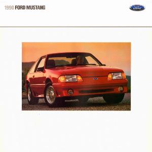 free 1990 ford mustang sales brochures