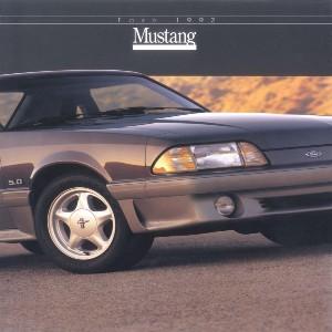 free 1992 ford mustang sales brochures