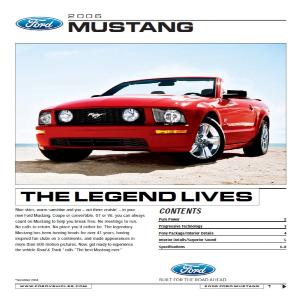 free 2006 ford mustang sales brochures
