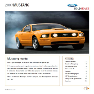 free 2007 ford mustang sales brochures