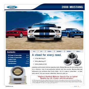 free 2008 ford mustang sales brochures
