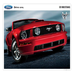 free 2009 ford mustang sales brochures