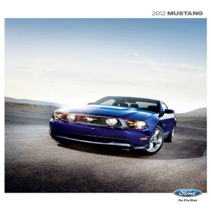 free 2012 ford mustang sales brochures