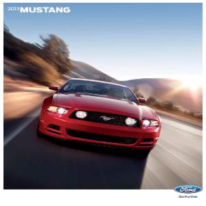 free 2013 ford mustang sales brochures