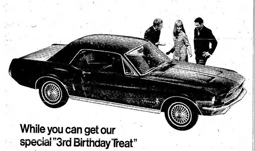 67 Third Birthday Treat Mustang