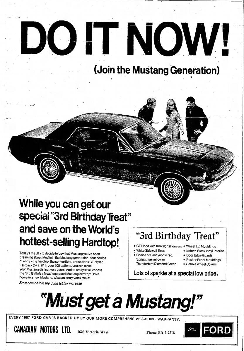 1967 Third Birthday Special Mustang