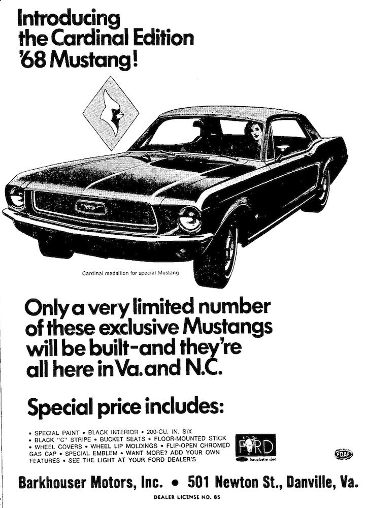 1968 Ford Mustang Cardinal Edition