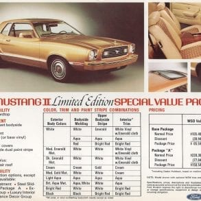1977 Ford Mustang Limited Edition Special Value