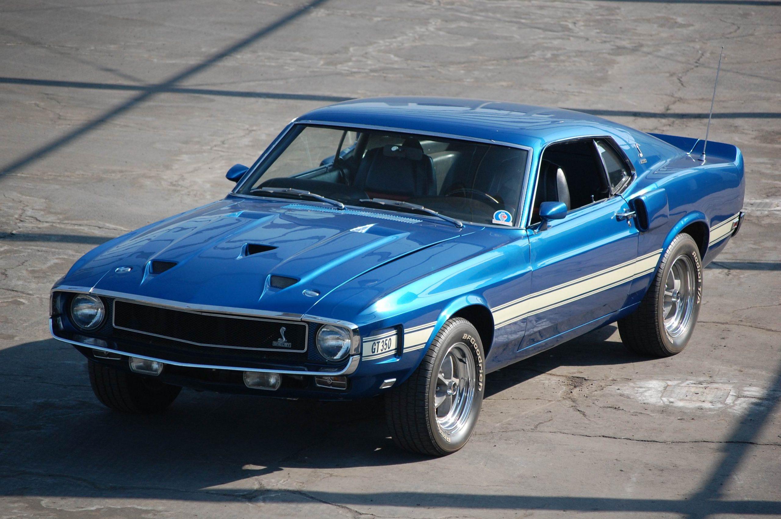 Blue 1969 GT350