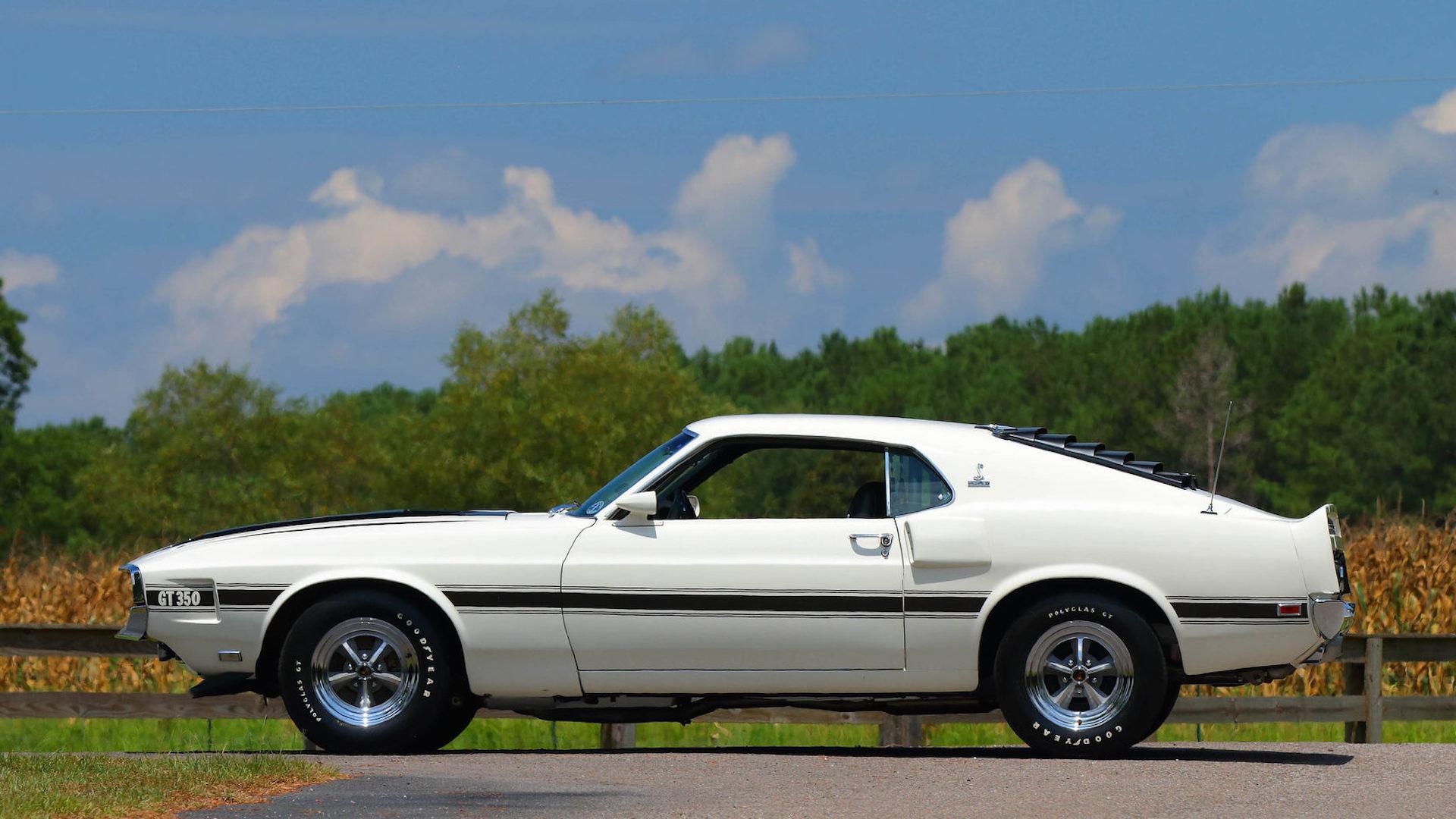 White 1970 GT350 Mustang
