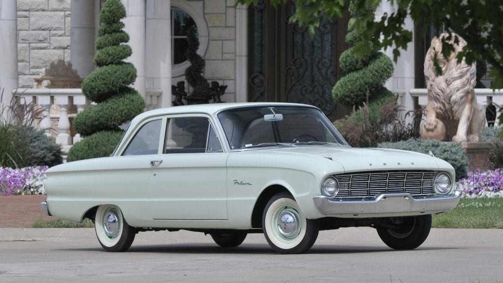 The 1960 Ford Falcon proved to Ford that smaller automobiles sold better.