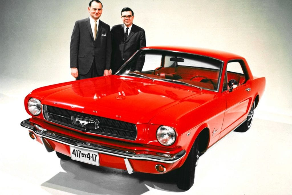 1964-Mustang-with-Lee-Iacocca