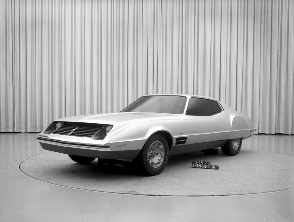One of the earliest prototype designs of the Mustang II.