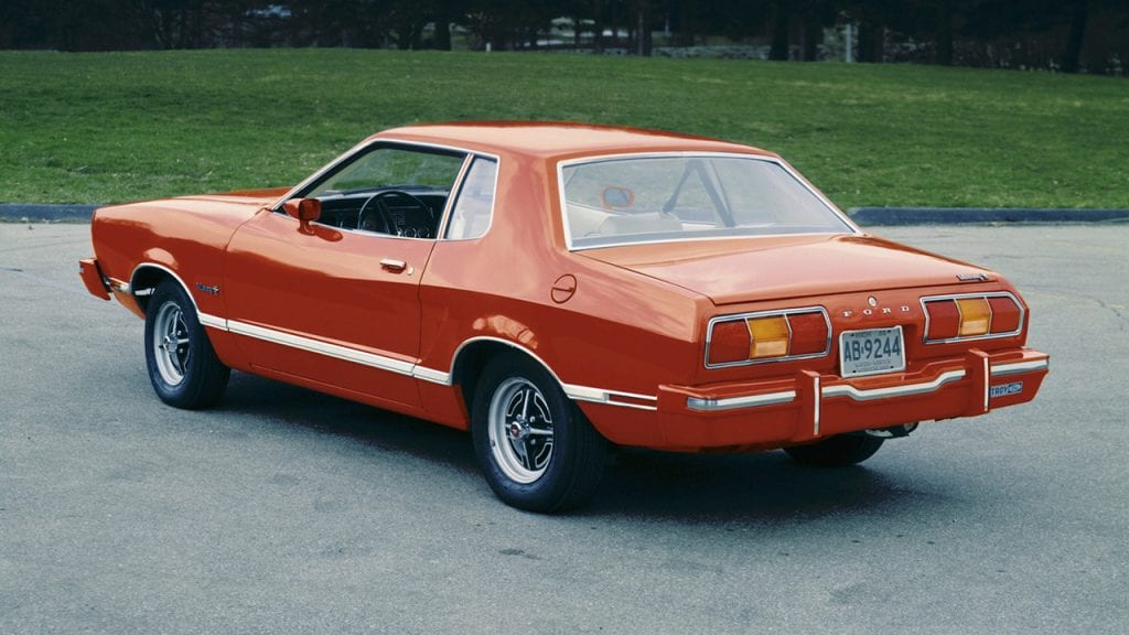 The 1974 Ford Mustang II notchback.