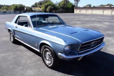 1968 Ford Mustang In Brittany Blue Walk Around + Engine Start