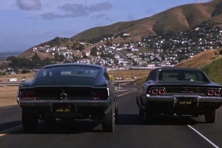 1968 Ford Mustang Bullit vs Dodge Charger Epic Scene From 1968 Film 'Bullit'