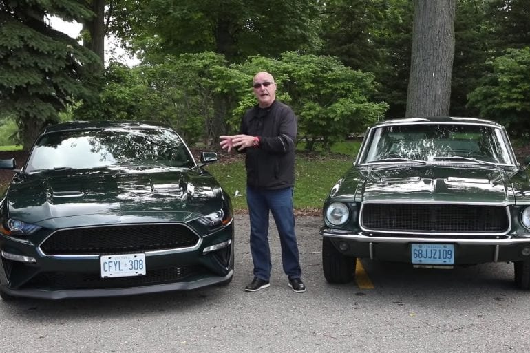 1968 Ford Mustang Bullit vs 2019 Mustang Bullit Comparison Video