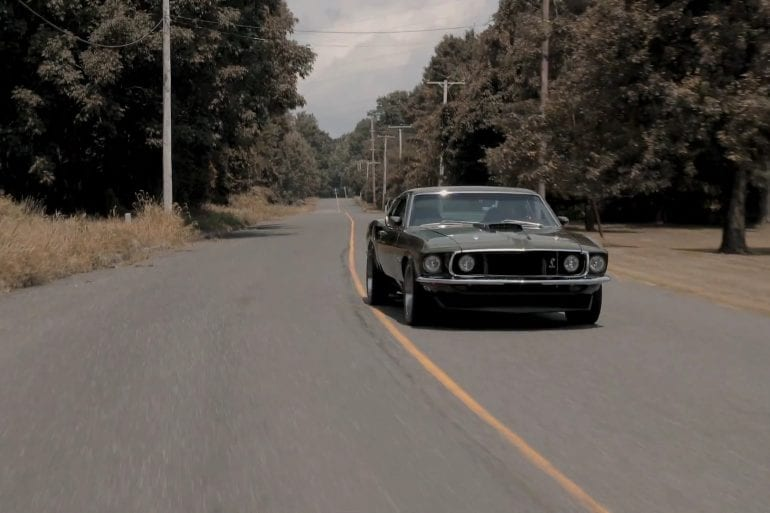 Cruising In A 1969 Ford Mustang GT Fastback