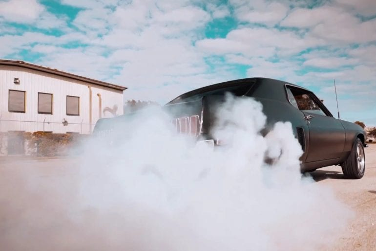 1969 Ford Mustang Burning Some Serious Rubber