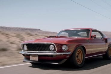 Cruising On A Vintage 1969 Ford Mustang Mach 1
