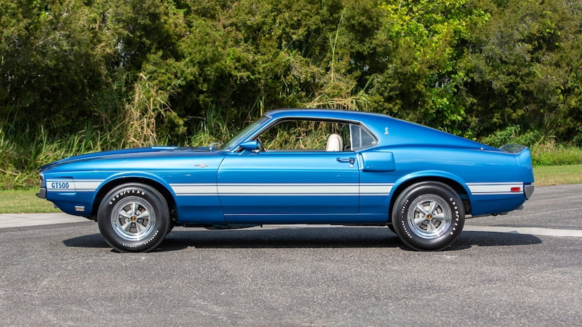Blue 1969 Shelby Mustang GT500