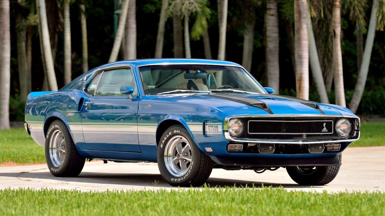 Blue 1970 GT500 Mustang