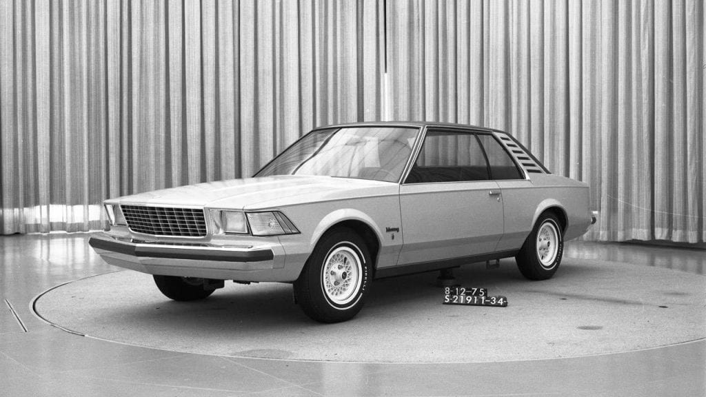 Early Fox Body Mustang prototype from 1975.