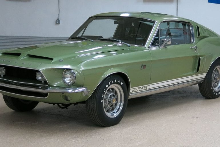Green 1968 Shelby GT500