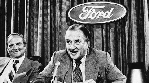 Henry Ford II fires Lee Iacocca on July 13, 1978. Iacocca joins the Chrysler Corporation in November of that same year.