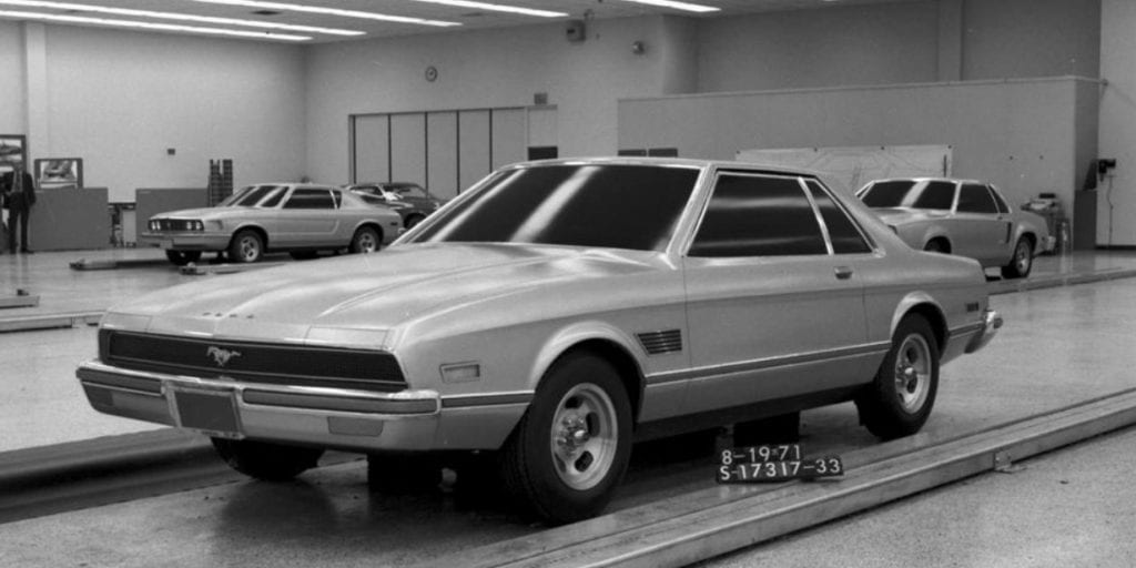 1971 Ford Mustang II Notchback prototype.