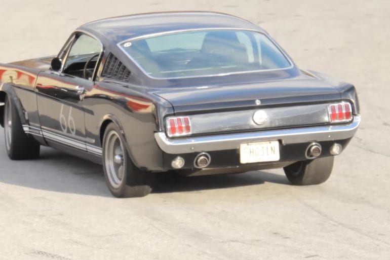 1966 Ford Mustang GT Fastback 289 At The Race Track