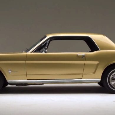 1966 Ford Mustang Anniversary Gold Edition Close Look