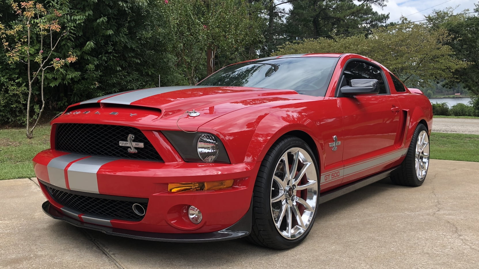 Red 2007 GT500 40th Anniversary Mustang