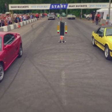 Video: 1992 Ford Mustang GT vs 1995 Ford Mustang GT Drag Race