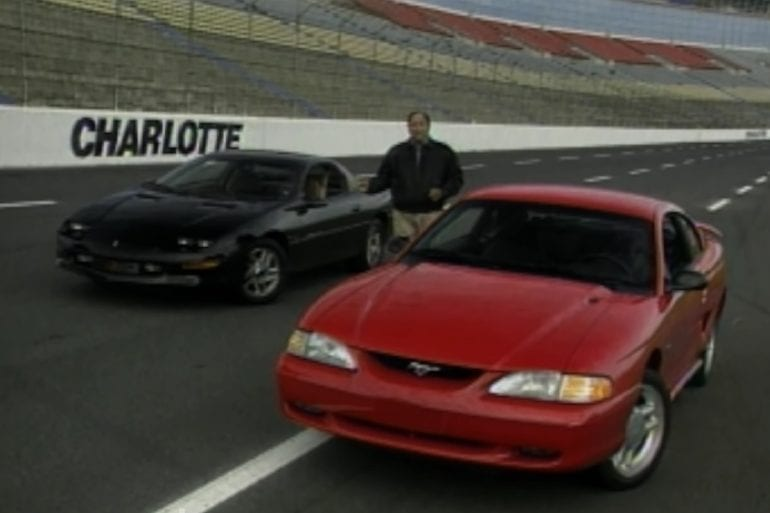 Video: 1994 Ford Mustang GT vs Camaro Z-28 Retro Review